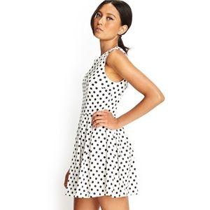 White with Black Polka Dot Forever 21 Dress